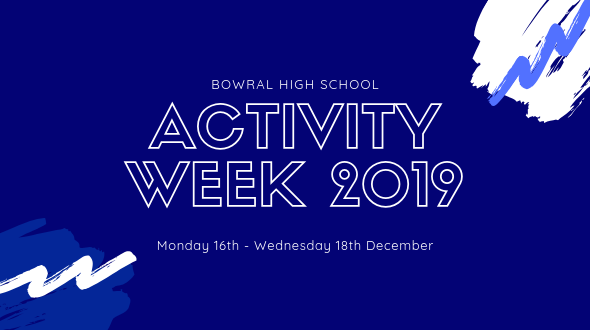 Activity Week 2019 - Bowral High School